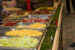 Variety of Chilled Garnishes at Mexican Food Cart Royalty Free Stock Image