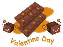 Variety of chocolate collection. Valentine Character Design Seri Royalty Free Stock Images