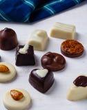 Variety chocolate pralines Stock Photo