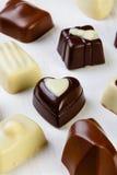 Variety chocolate pralines Royalty Free Stock Photo