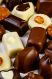 Variety chocolate pralines Royalty Free Stock Photography