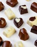 Variety chocolate pralines Royalty Free Stock Photos