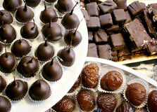 Variety of chocolates Royalty Free Stock Photos
