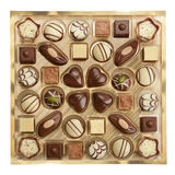 Variety of chocolates Stock Images