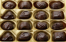 Variety of chocolates Royalty Free Stock Photos