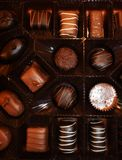 Assortment Of Chocolate Candies royalty free stock photos