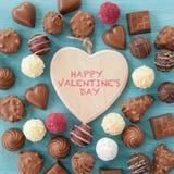 Variety of chocolates and truffles Stock Photo