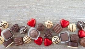 Variety of chocolates Royalty Free Stock Photo