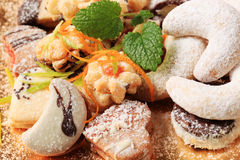 Variety of Christmas cookies Royalty Free Stock Photography