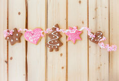 Variety of christmas cookies Stock Photos