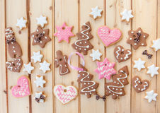 Variety of christmas cookies Royalty Free Stock Photos