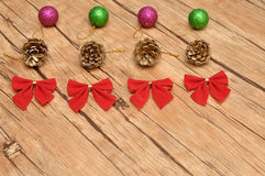 Variety of Christmas decorations Stock Images
