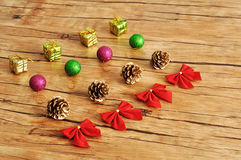Variety of Christmas decorations Stock Photography