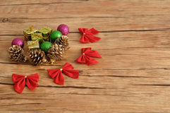 Variety of Christmas decorations Royalty Free Stock Image