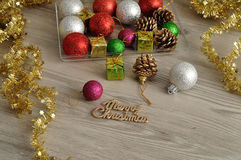 Variety of Christmas decorations Royalty Free Stock Images