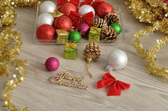 Variety of Christmas decorations Royalty Free Stock Photos