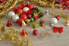 Variety of Christmas decorations Stock Image