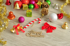 Variety of Christmas decorations Stock Photo
