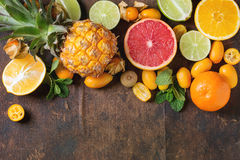 Variety of citrus fruits Stock Photography