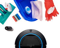 Variety of cleaning items Royalty Free Stock Image