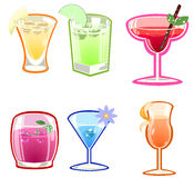 Variety of cocktails Royalty Free Stock Photos