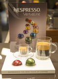 Variety of coffee capsules in Nespresso store Royalty Free Stock Photo
