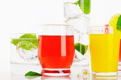 Variety of cold drinks Stock Image