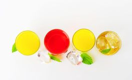 Variety of cold drinks Royalty Free Stock Images