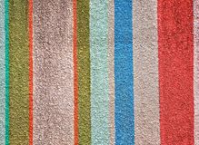 Variety of color bar paint on a wall cement Royalty Free Stock Images