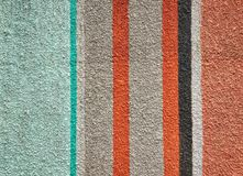 Variety of color bar paint on a wall cement Royalty Free Stock Photo