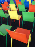 The variety color chairs Stock Photo
