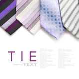 Variety color neckties Royalty Free Stock Image