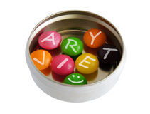 Variety of color pills Royalty Free Stock Photography