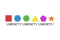 Variety color shapes Stock Photos