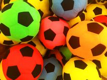 A variety of colored balls, arranged in a variety of balls stock photography