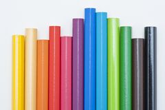 Variety of colored pencils Stock Photography