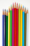 Variety of colored pencils. Stock Photography