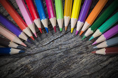 A variety of colored pencils Royalty Free Stock Photography