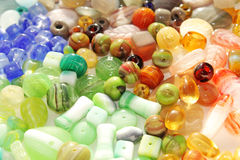 Variety of colorful beads Stock Photo