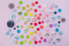 Variety of colorful buttons Royalty Free Stock Images