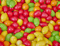 Variety of colorful candies Royalty Free Stock Images