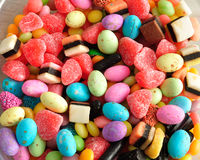 Variety of colorful candy Stock Photo