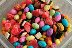 A variety of colorful candy Stock Photo