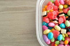 A variety of colorful candy Stock Photography