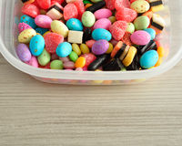 A variety of colorful candy Stock Image