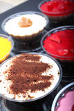 Variety of colorful desserts Royalty Free Stock Photos