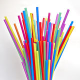 Variety of colorful drinking straws Stock Photo