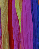 Variety of colorful fabrics background Royalty Free Stock Photos