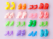 Variety of colorful high heels Stock Image
