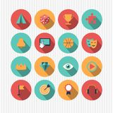 Variety of colorful icons Stock Photo